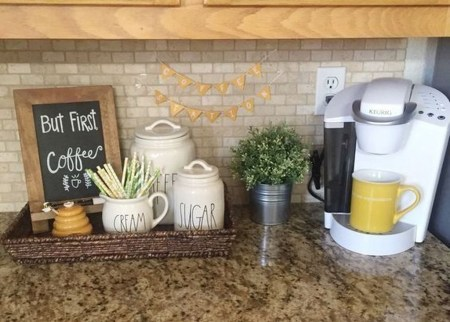 Fantastic DIY Coffee Bar Ideas For Your Home 34