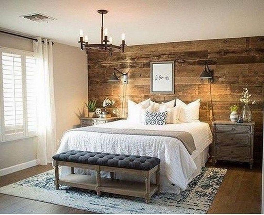 Modern Rustic Master Bedroom Design Ideas 46