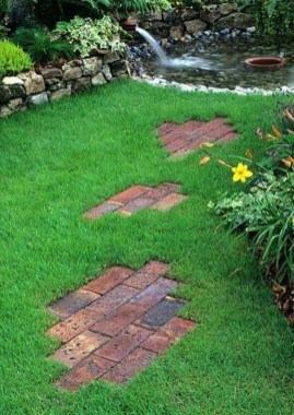 Newest Stepping Stone Pathway Ideas For Your Garden 06