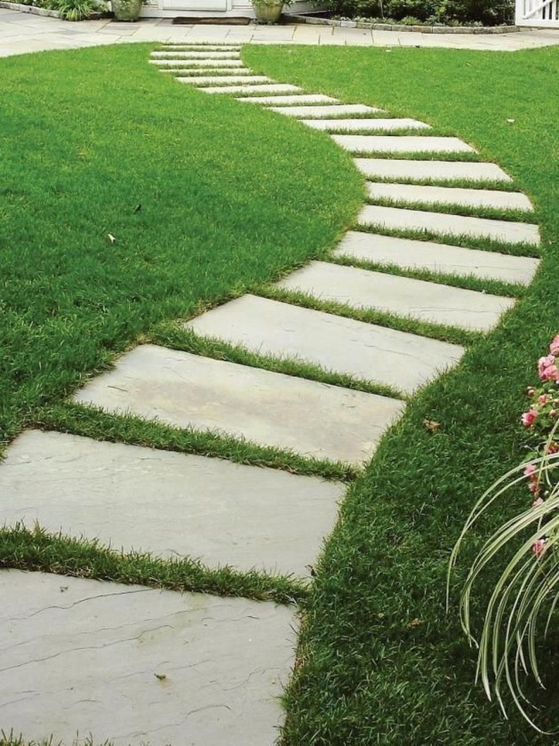 Newest Stepping Stone Pathway Ideas For Your Garden 25