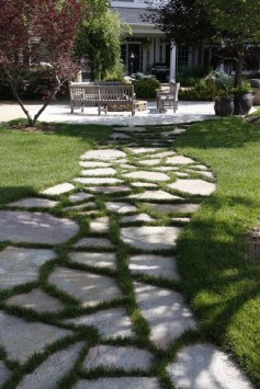 Newest Stepping Stone Pathway Ideas For Your Garden 39