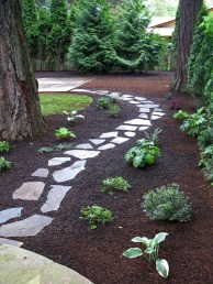 Newest Stepping Stone Pathway Ideas For Your Garden 44