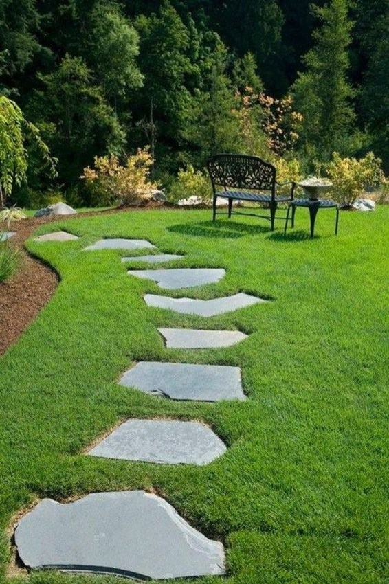 Newest Stepping Stone Pathway Ideas For Your Garden 46