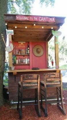 Unusual DIY Outdoor Bar Ideas On A Budget 43