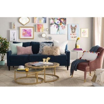 Adorable Colorful Pillow Ideas For Cozy Living Room 23
