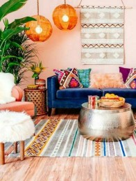 Adorable Colorful Pillow Ideas For Cozy Living Room 48