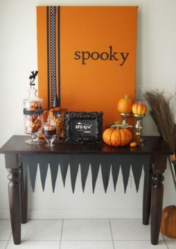 Astonishing Halloween Table Decoration That Perfect For This Year 44