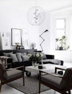 Cute Monochrome Living Room Decoration You Must Have 11