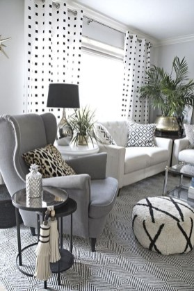 Cute Monochrome Living Room Decoration You Must Have 18