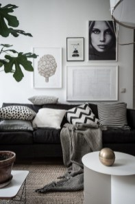 Cute Monochrome Living Room Decoration You Must Have 29