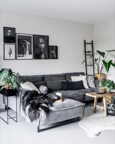 Cute Monochrome Living Room Decoration You Must Have 30
