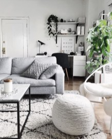 Cute Monochrome Living Room Decoration You Must Have 40