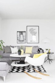 Cute Monochrome Living Room Decoration You Must Have 41