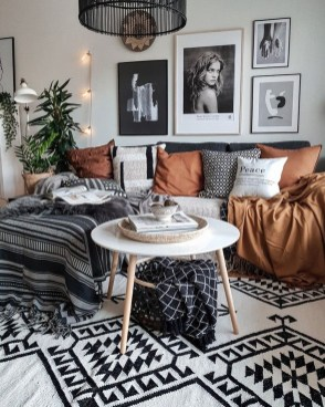 Cute Monochrome Living Room Decoration You Must Have 43