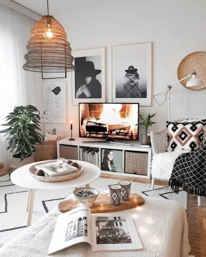 Cute Monochrome Living Room Decoration You Must Have 48
