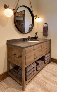 Inspiring Bathroom Decoration Ideas With Wooden Storage 04
