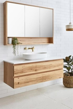 Inspiring Bathroom Decoration Ideas With Wooden Storage 25