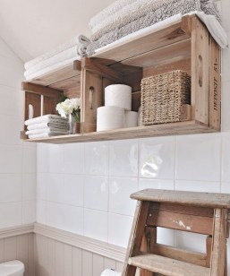 Inspiring Bathroom Decoration Ideas With Wooden Storage 30