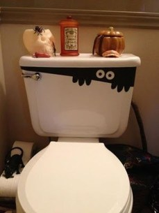 Scary Halloween Decorating Ideas For Your Bathroom 13