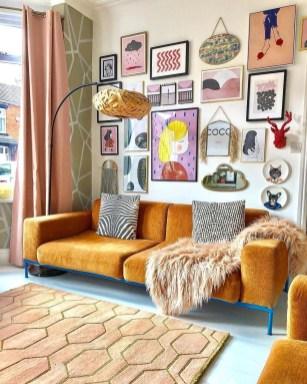 Trendy Living Room Wall Gallery Design Ideas 06