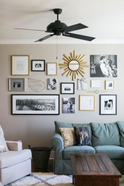 Trendy Living Room Wall Gallery Design Ideas 07