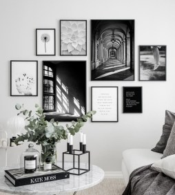 Trendy Living Room Wall Gallery Design Ideas 41