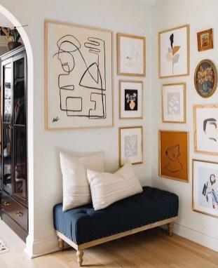 Trendy Living Room Wall Gallery Design Ideas 44