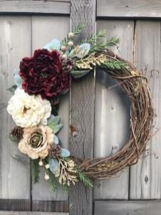 Beautiful DIY Winter Wreath To Place It On Your Door 14