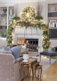 Inspiring Fireplace Mantel Decorating Ideas For Winter 03
