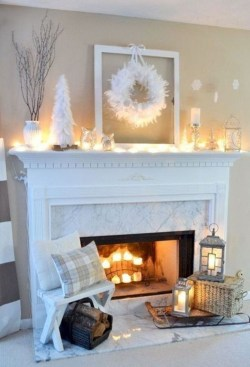 Inspiring Fireplace Mantel Decorating Ideas For Winter 06