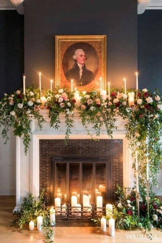 Inspiring Fireplace Mantel Decorating Ideas For Winter 46
