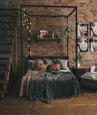 Modern Style For Industrial Bedroom Design Ideas 07