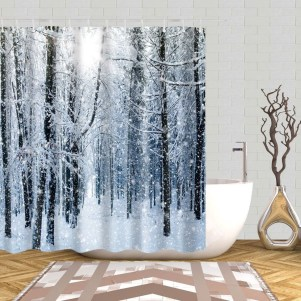 Beautiful Winter Themed Bathroom Decoration Ideas 04