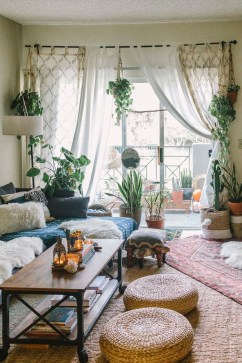 Pretty House Plants Ideas For Living Room Decoration 07
