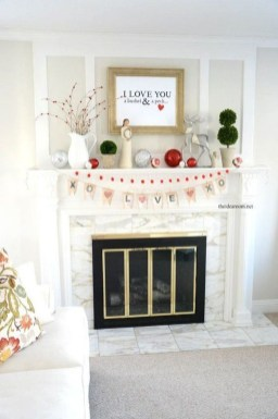 Best Valentines Day Mantel Decor Ideas That You Will Falling In Love With 09