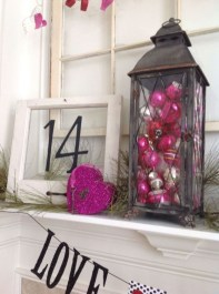 Best Valentines Day Mantel Decor Ideas That You Will Falling In Love With 24