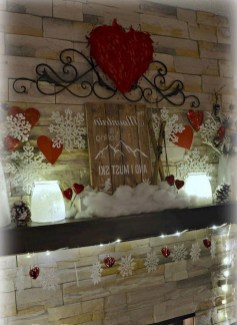 Best Valentines Day Mantel Decor Ideas That You Will Falling In Love With 34