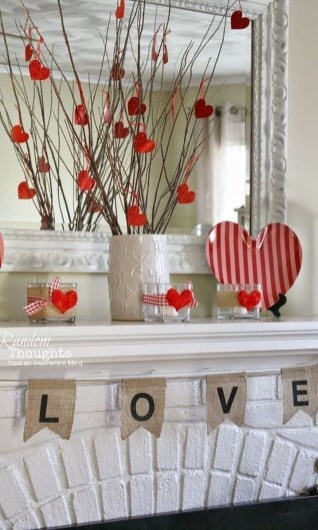 Best Valentines Day Mantel Decor Ideas That You Will Falling In Love With 46