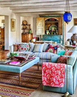 Gorgeous Bohemian Farmhouse Decorating Ideas For Your Living Room 08