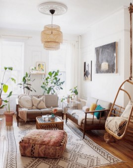 Gorgeous Bohemian Farmhouse Decorating Ideas For Your Living Room 09