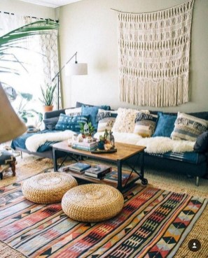 Gorgeous Bohemian Farmhouse Decorating Ideas For Your Living Room 15