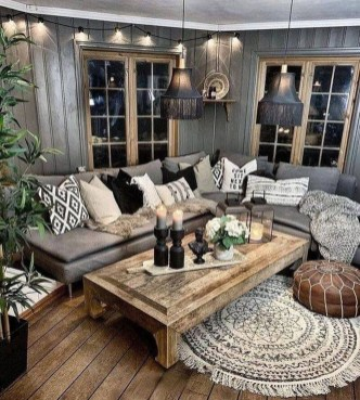 Gorgeous Bohemian Farmhouse Decorating Ideas For Your Living Room 17