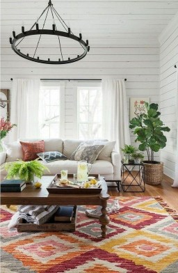 Gorgeous Bohemian Farmhouse Decorating Ideas For Your Living Room 33
