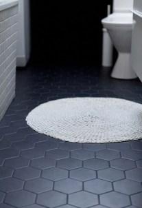 Impressive Black Floor Tiles Design Ideas For Modern Bathroom 02