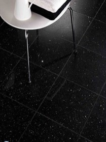 Impressive Black Floor Tiles Design Ideas For Modern Bathroom 32