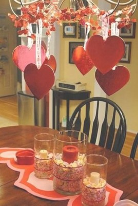 Magnificent Dining Room Decorating Ideas For Valentine's Day 31