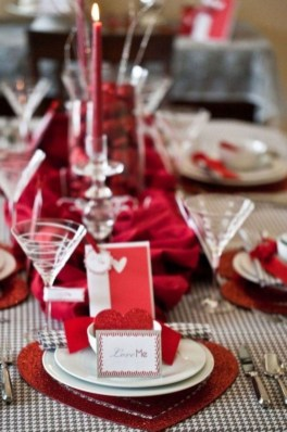 Magnificent Dining Room Decorating Ideas For Valentine's Day 39