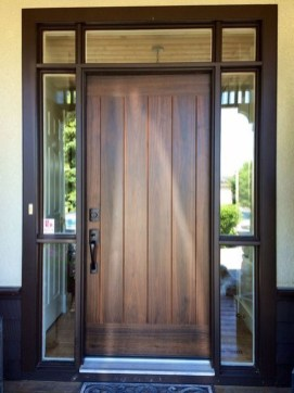 Artistic Wooden Door Design Ideas To Try Right Now 35
