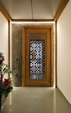 Artistic Wooden Door Design Ideas To Try Right Now 38