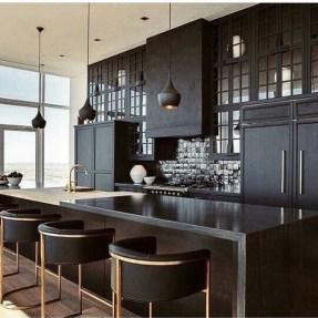 Delicate Black Kitchen Interior Design Ideas For Kitchen To Have Asap 10
